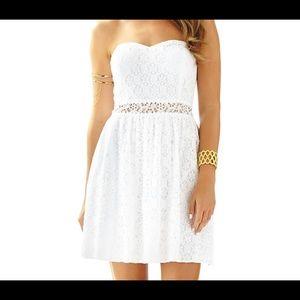 NWOT Lilly Pulitzer Brett Strapless White Dress